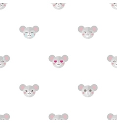 flat cartoon mouse heads with different vector image vector image