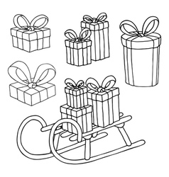 Girt boxes set vector