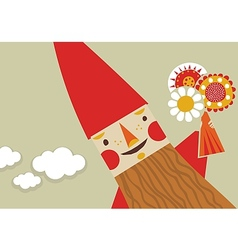 Happy gnome vector