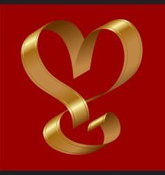 heart shape ribbon vector image