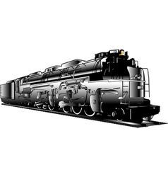 Industrial steam train vector