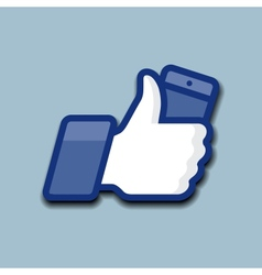 LikeThumbs Up symbol icon with mobile phone vector image
