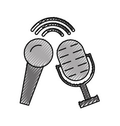 Microphone audio isolated icon vector