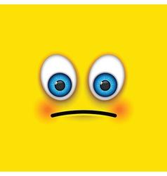 sad square emoji vector image