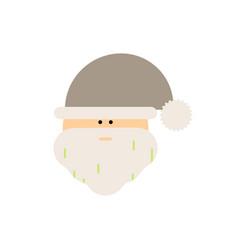 Santa head santa claus face vector
