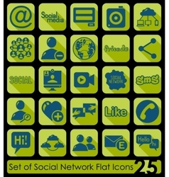 Set of social network icons vector image
