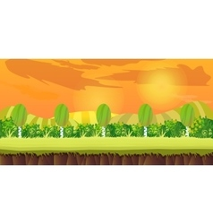 sunset hills Game Background vector image