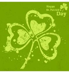 Three leaf clover grunge on vector image