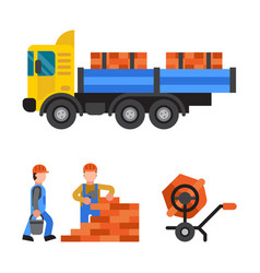 under construction technic vector image