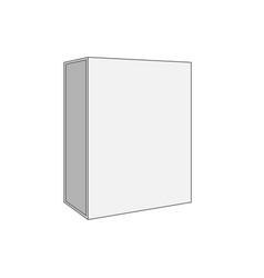 white blank box template vector image