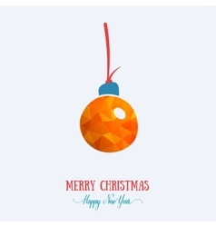 Merry christmas card creative decoration happy vector
