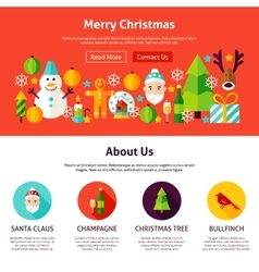 Merry christmas website design vector