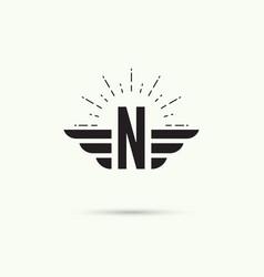 elegant dynamic alphabet vector image