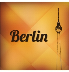 television tower in berlin vector image