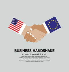 Usa-eu business handshake vector