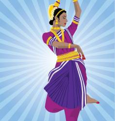 Odissi dancer vector
