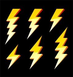 lightning symbols vector image