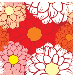 Dahlia seamless vector