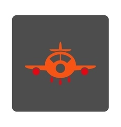 Aircraft rounded square button vector