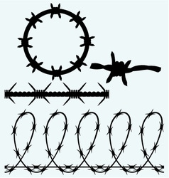 Set sumbol barbed wire vector