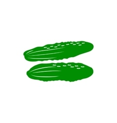 Cucumber icon simple style vector