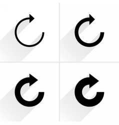Arrow icon reset repeat reload rotation sign vector