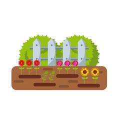 Beautiful garden design vector
