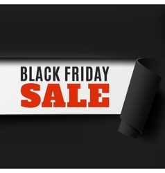 Black Friday torn paper background vector image
