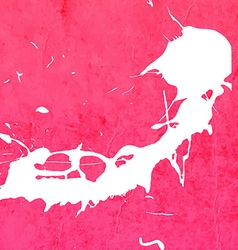 Bright pink paint splash background vector
