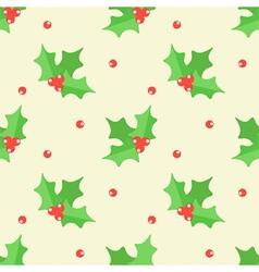 Christmas mistletoe seamless pattern background vector image vector image