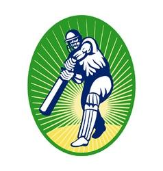 cricket batsman background vector image