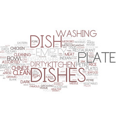Dishes word cloud concept vector