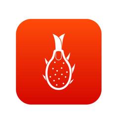dragon fruit icon digital red vector image vector image