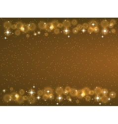 Frame with stars on the dark background sparkles vector image vector image