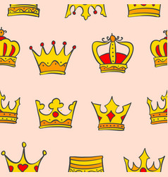 Gold crown very glamour of pattern vector