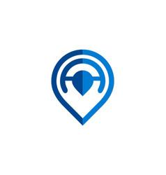 Gps position technology logo vector