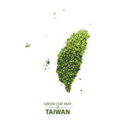 green leaf map of taiwan vector image