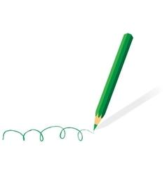 Green pencil vector image