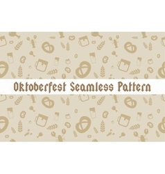Holiday oktoberfest seamless pattern vector
