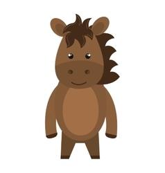 horse animal cartoon vector image