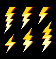 lightning symbols vector image vector image