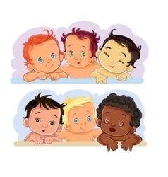 little children of different vector image vector image