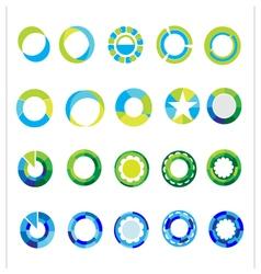 Logo templates set abstract circle signs and vector