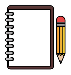 notebook school with pencil vector image vector image