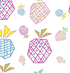 Pineapples pattern vector image vector image