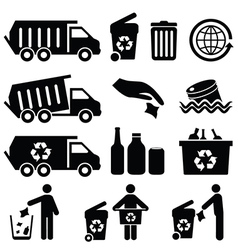 Recycling icons vector