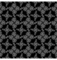 Seamless black small floral elements vector