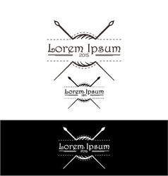 Stylish icon for fashion designers and textile ind vector image vector image