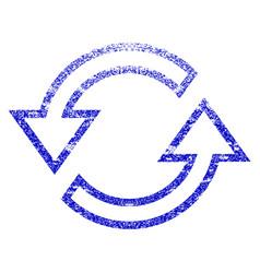 Sync arrows grunge textured icon vector