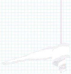 Torn exercise book vector